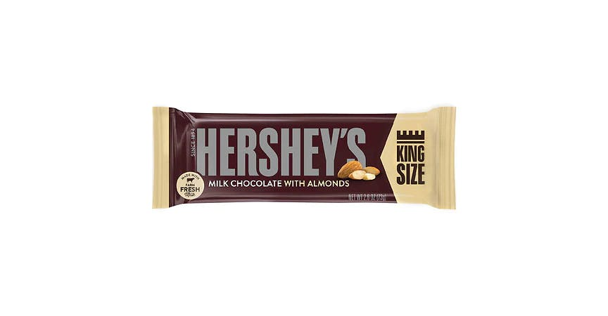 Hershey's King Size Milk Chocolate with Almonds Bar (3 oz) from EatStreet Convenience - W Mason St in Green Bay, WI