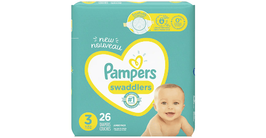 Pampers Swaddlers 3 (16-28 lbs) (26 ct) from EatStreet Convenience - NW Topeka Blvd in Topeka, KS