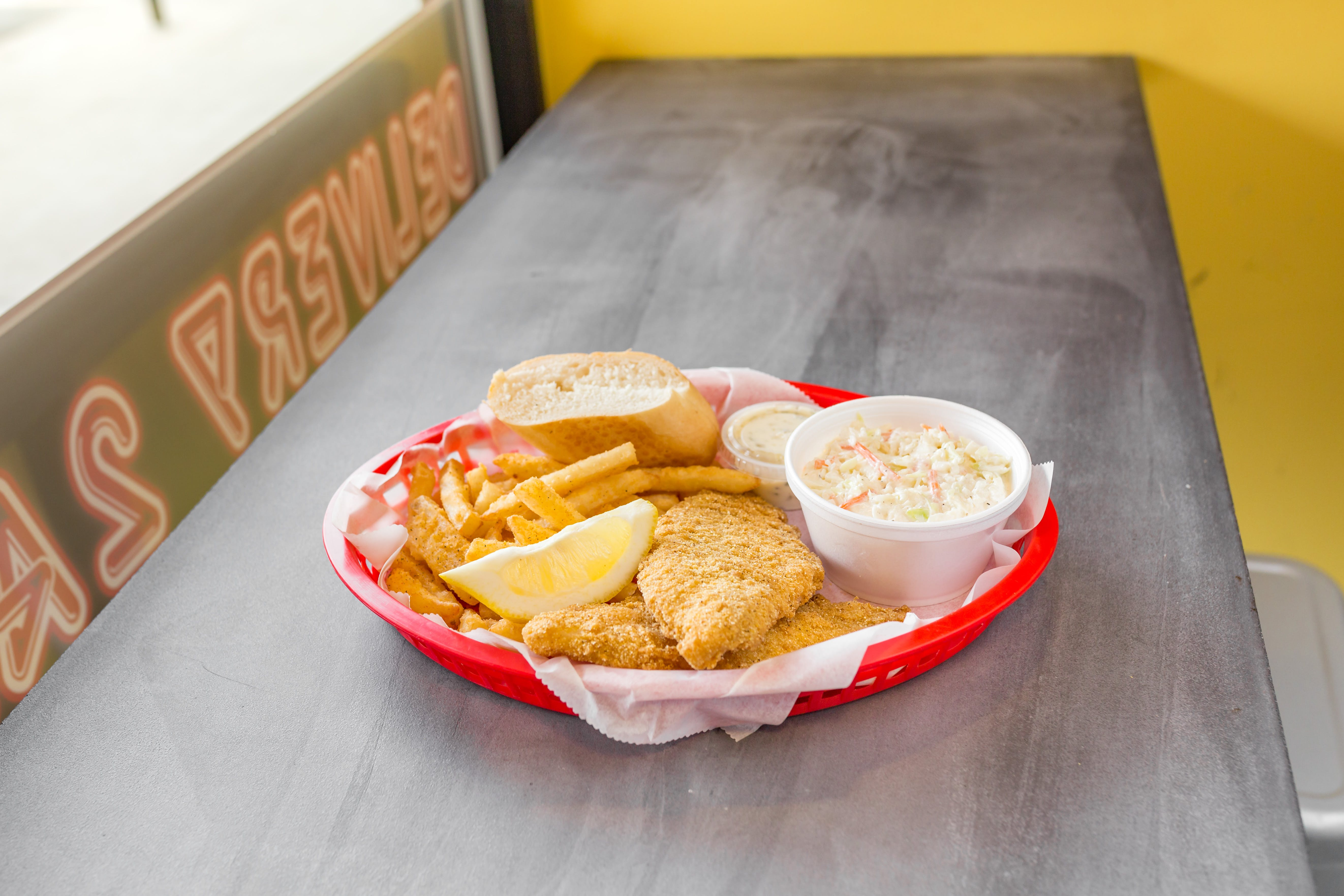 Large Catfish Dinner from Chubby's Cheesesteaks - Miller Park Way in Milwaukee, WI