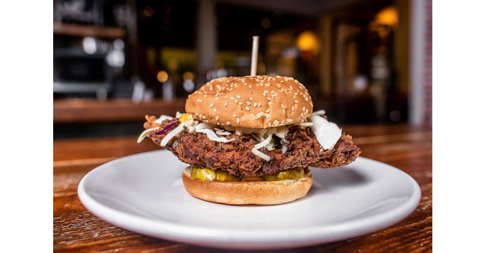 Fried Chicken Sandwich from Tallgrass Taphouse in Manhattan, KS