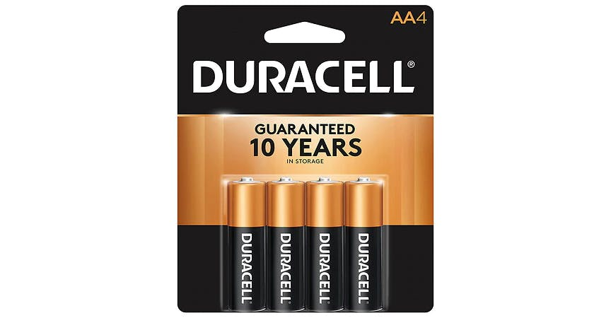 Duracell Coppertop Alkaline Batteries AA (4 ct) from EatStreet Convenience - SW Wanamaker Rd in Topeka, KS
