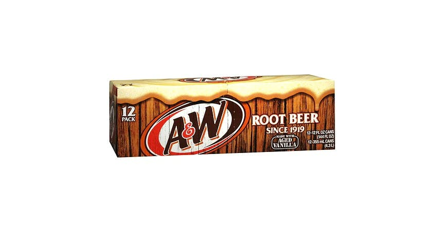 A&W Root Beer Soda 12 oz (12 pack) from EatStreet Convenience - W Mason St in Green Bay, WI