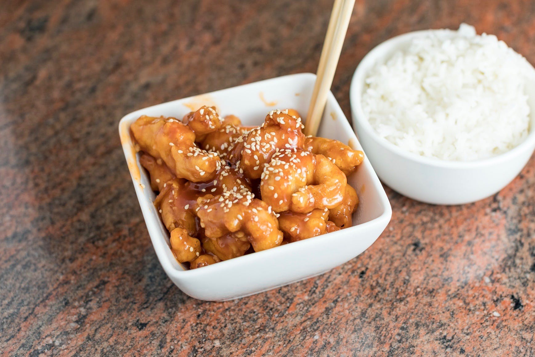 Sesame Chicken from Shanghai Bistro in Eau Claire, WI