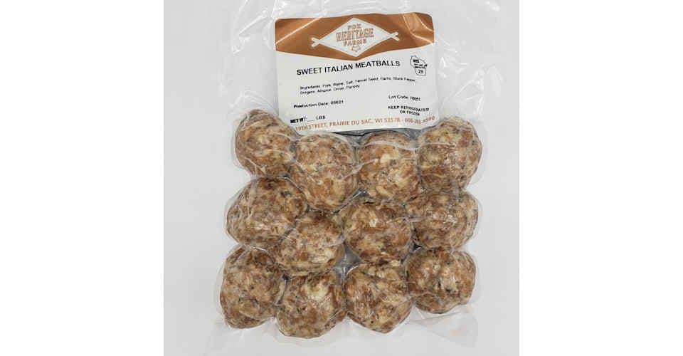 Frozen Sweet Italian Meatballs (Pack of 12) from Vitruvian Farms in Madison, WI