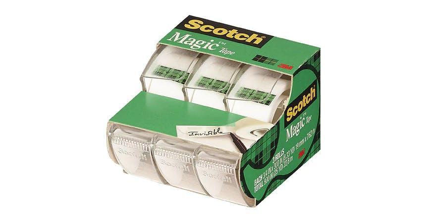 Scotch Scotch Magic Tape, 3/4 in. x 300 in. (3 ct) from EatStreet Convenience - SW Wanamaker Rd in Topeka, KS
