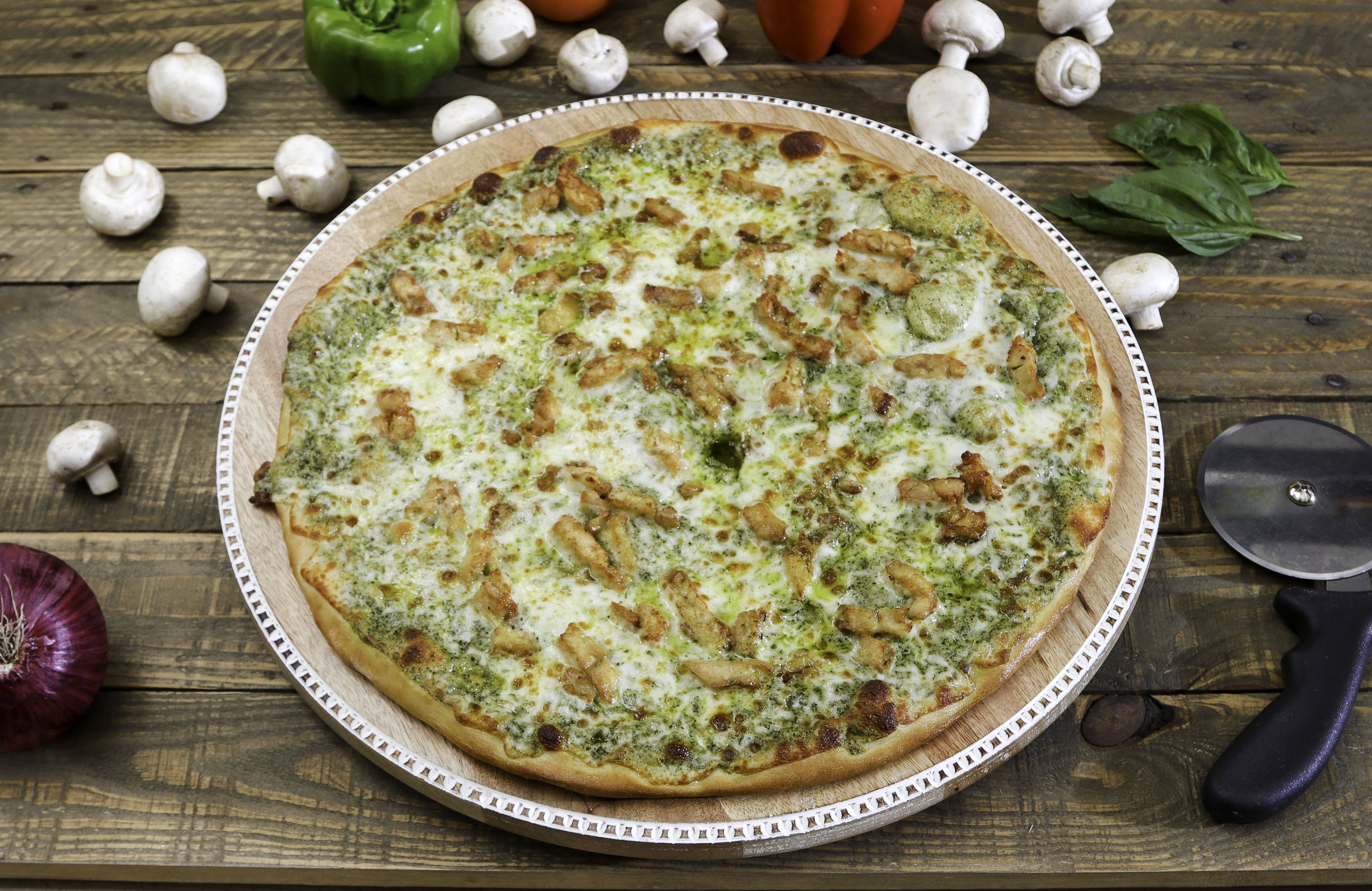 Pesto Chicken Pizza from Ameci Pizza & Pasta - Lake Forest in Lake Forest, CA