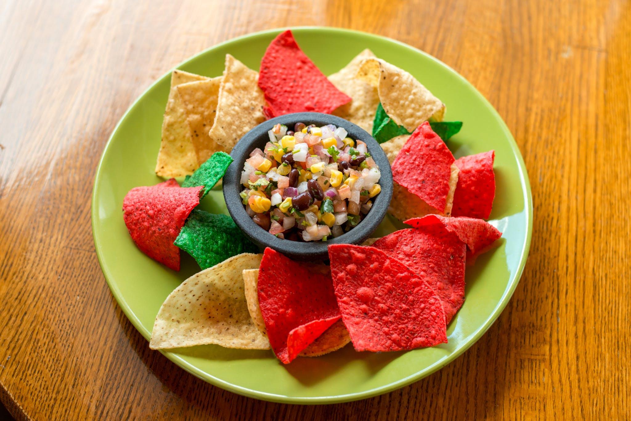 Black Bean Salad & Chips from Taqueria Maldonado's - Main Street in Green Bay, WI