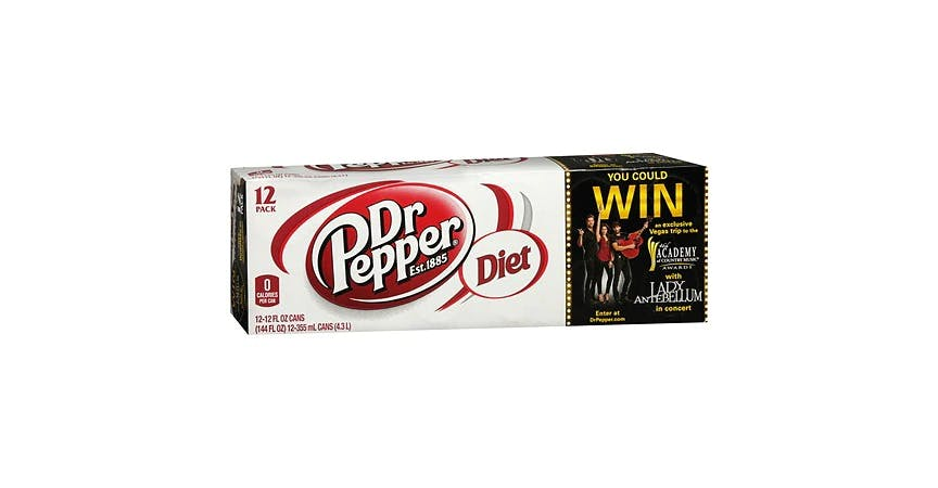 Diet Dr. Pepper Soda 12 oz (12 pack) from EatStreet Convenience - W Mason St in Green Bay, WI