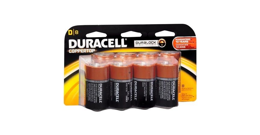 Duracell Coppertop Alkaline Batteries D (8 ct) from EatStreet Convenience - SW Wanamaker Rd in Topeka, KS