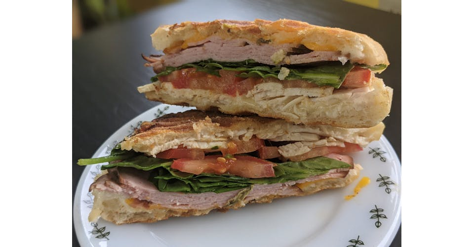 Clubbish Panini from Basics Co-op Cafe in Janesville, WI