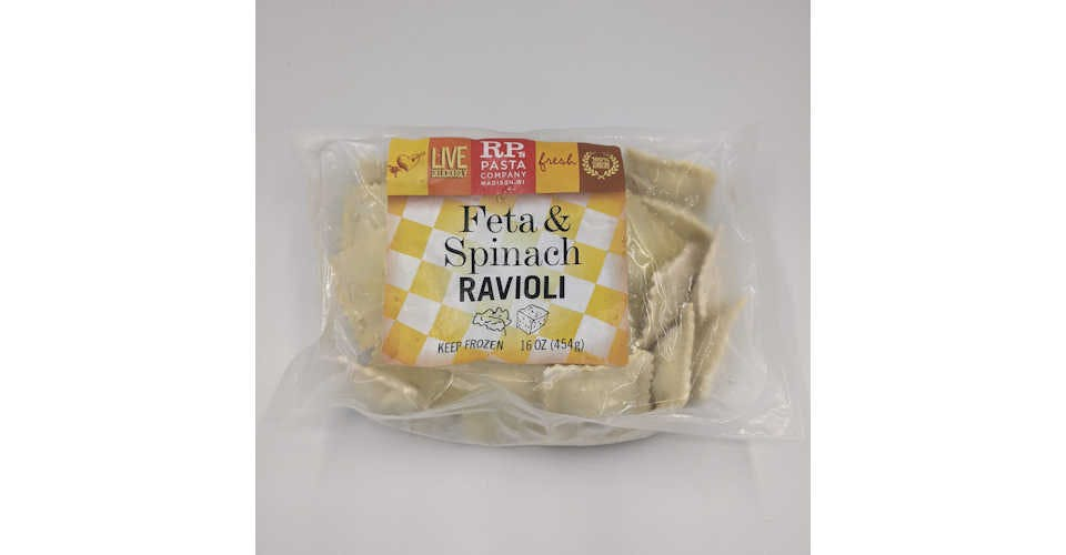 Frozen Ravioli Spinach/Feta (16 oz) from Vitruvian Farms in Madison, WI