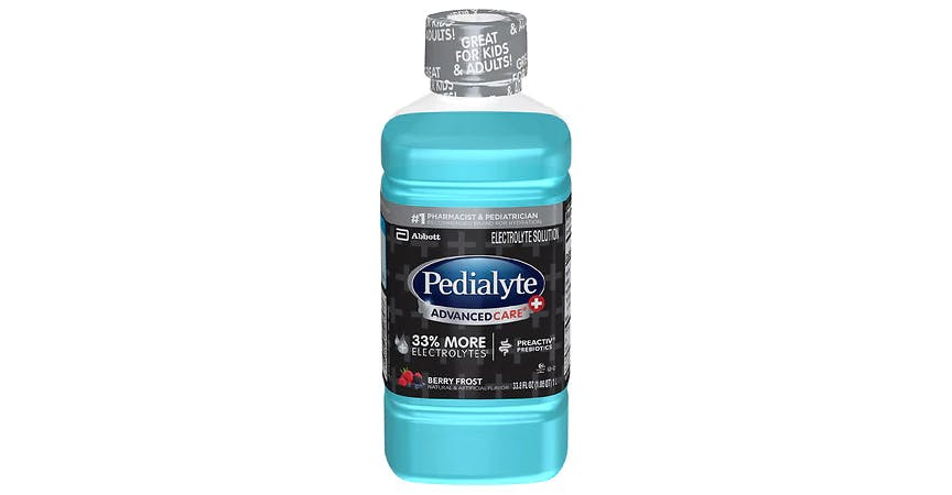 Pedialyte Electrolyte Solution Berry Frost (34 oz) from EatStreet Convenience - W Mason St in Green Bay, WI