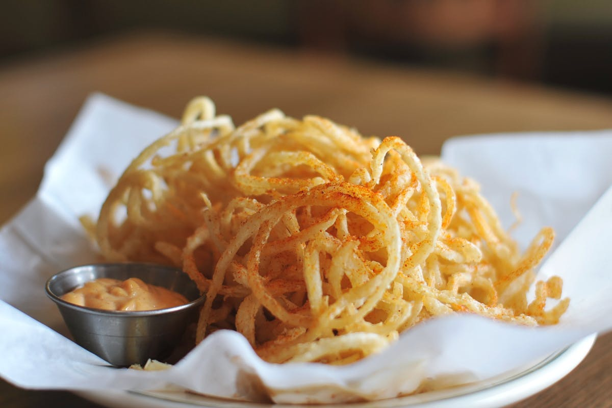 Onion Strings from The Old Fashioned in Madison, WI