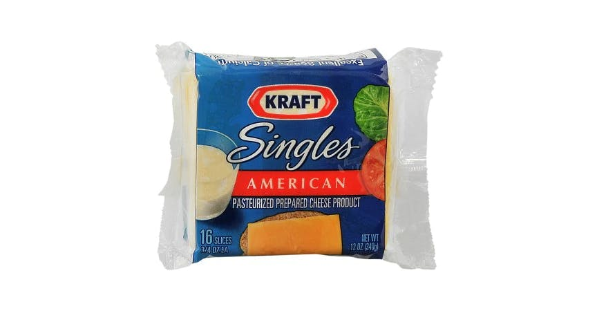 Kraft Singles Pasteurized Prepared Che (12 oz) from EatStreet Convenience - W Mason St in Green Bay, WI