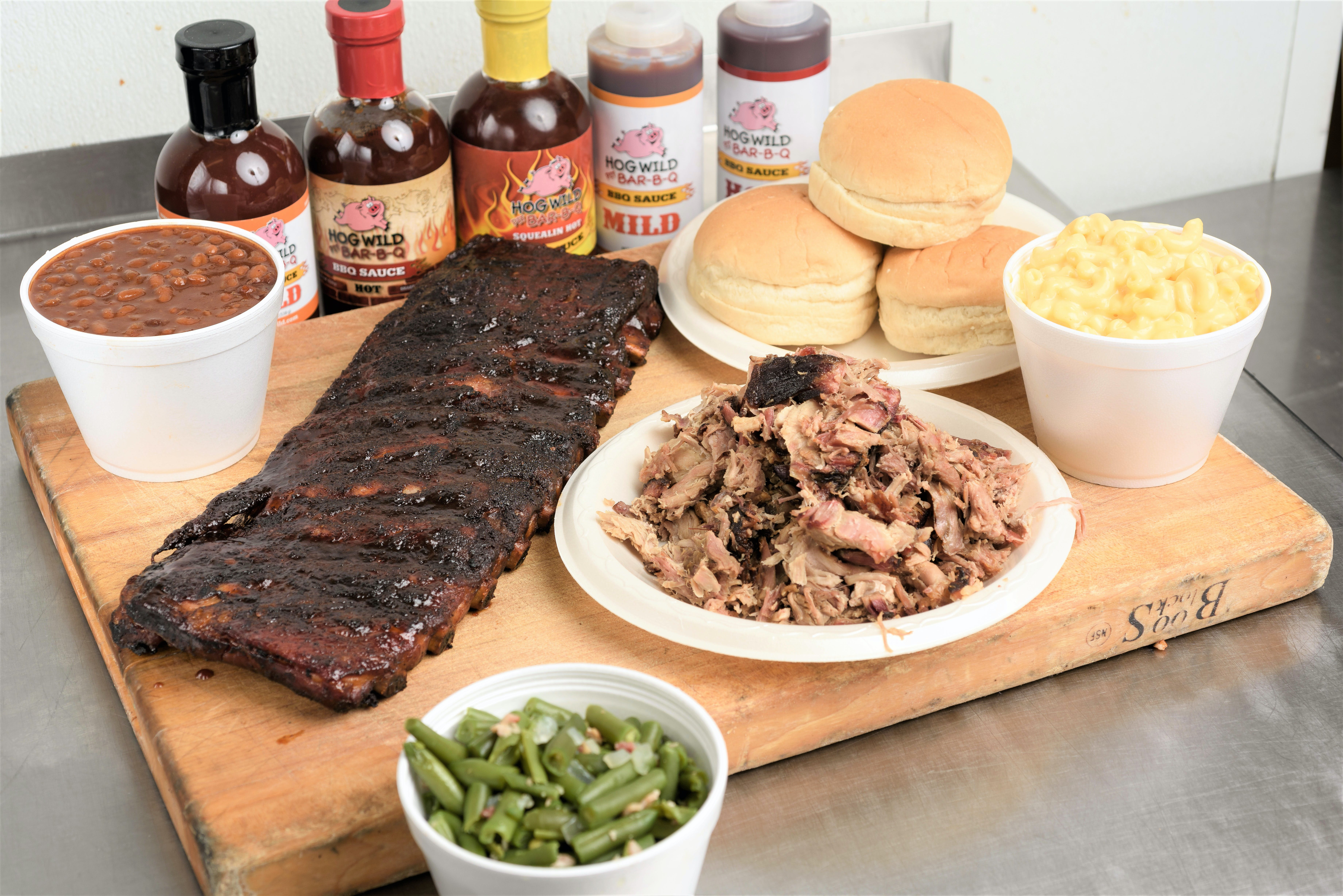 Family Feast from Hog Wild Pit BBQ & Catering in Lawrence, KS