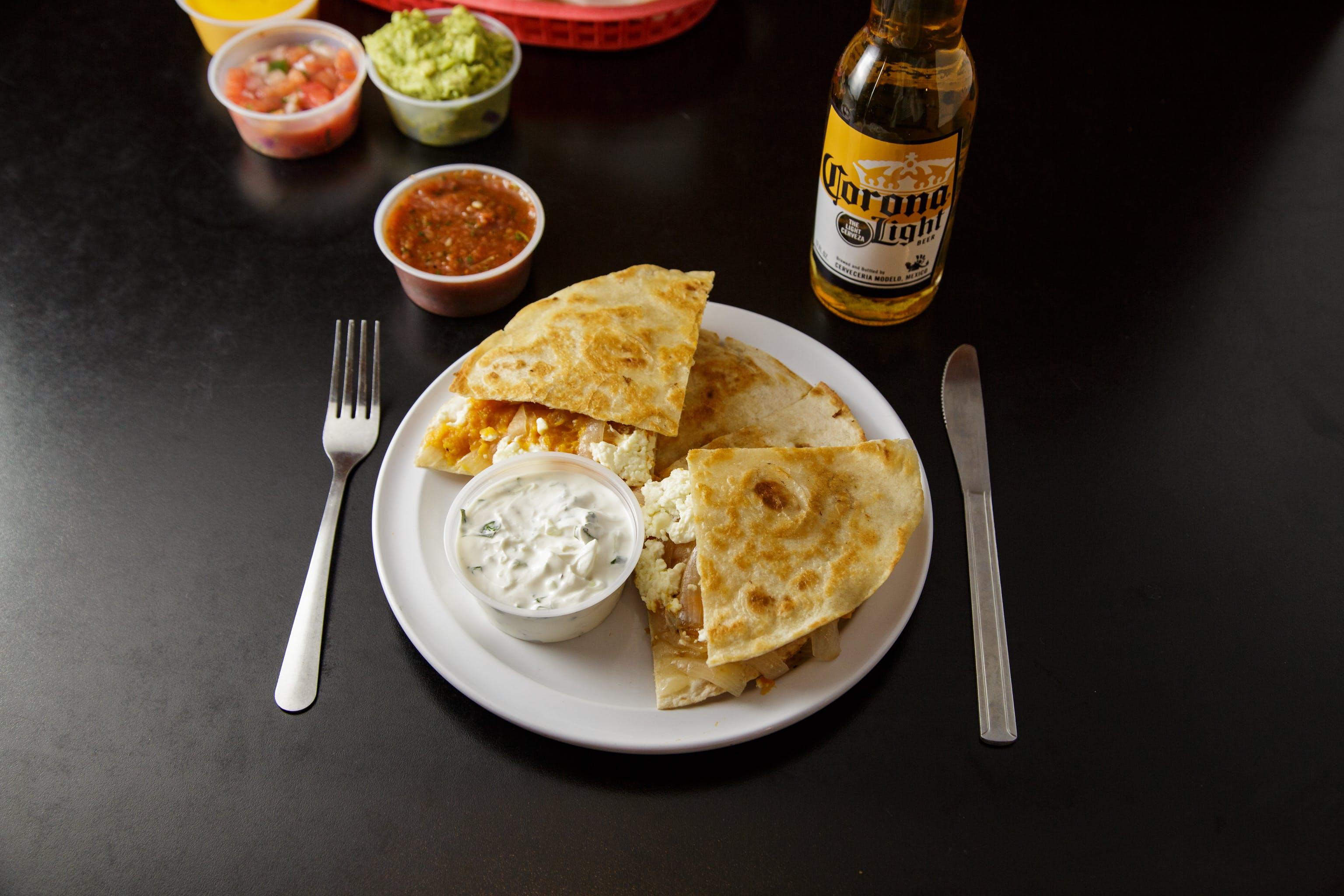 The BD Quesadilla from Burrito Drive in Madison, WI