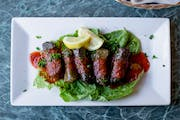 Stuffed Grape Leaves from Aladdin Cafe in Lawrence, KS