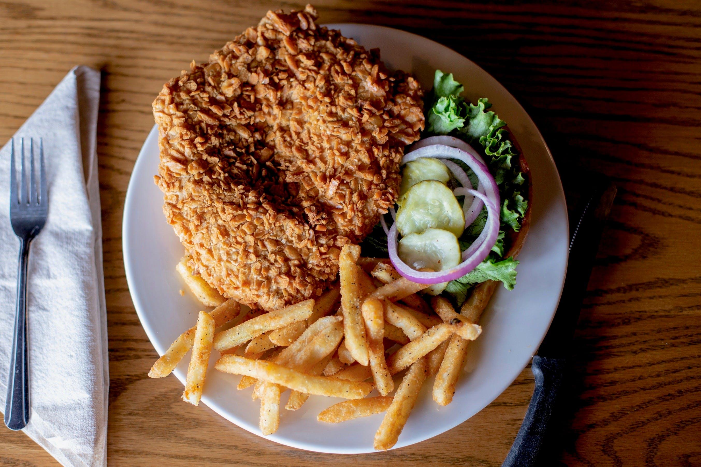 Pork Tenderloin Sandwich from Set'em Up Jacks in Lawrence, KS