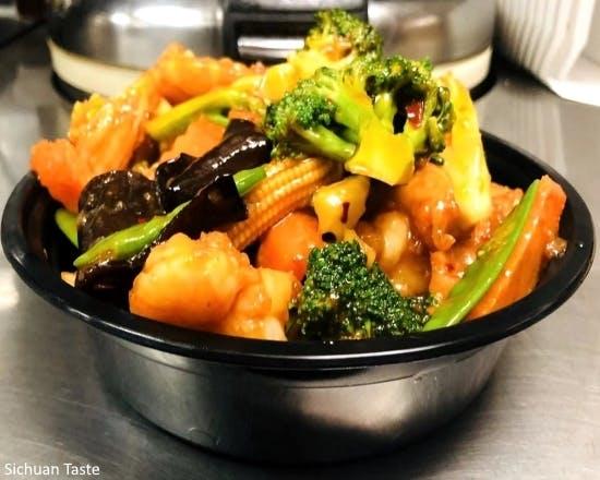 Hunan Shrimp from Sichuan Taste in Cockeysville, MD