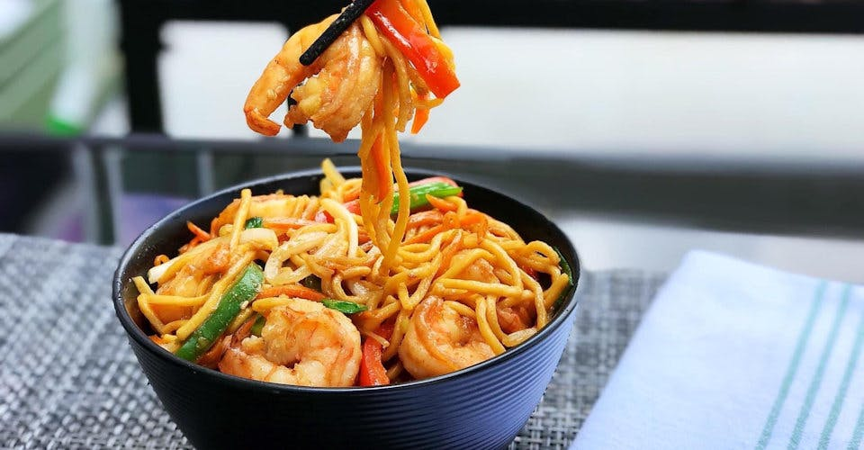 Shrimp Lo Mein from China Gate Restaurant in Kimberly, WI