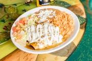 Enchiladas from Taqueria El Jalapeno in Madison, WI