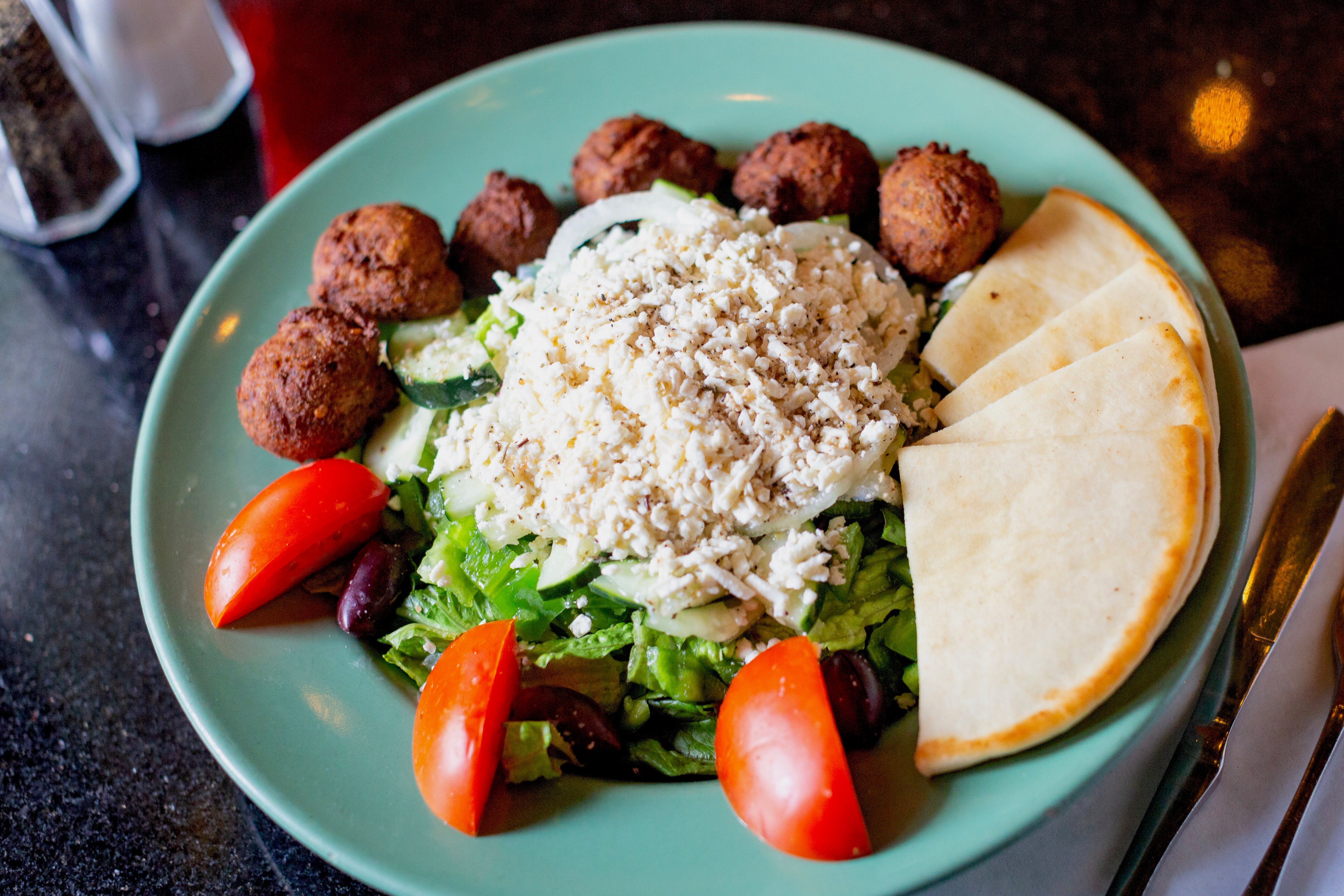 Falafel Salad from The Mad Greek in Lawrence, KS