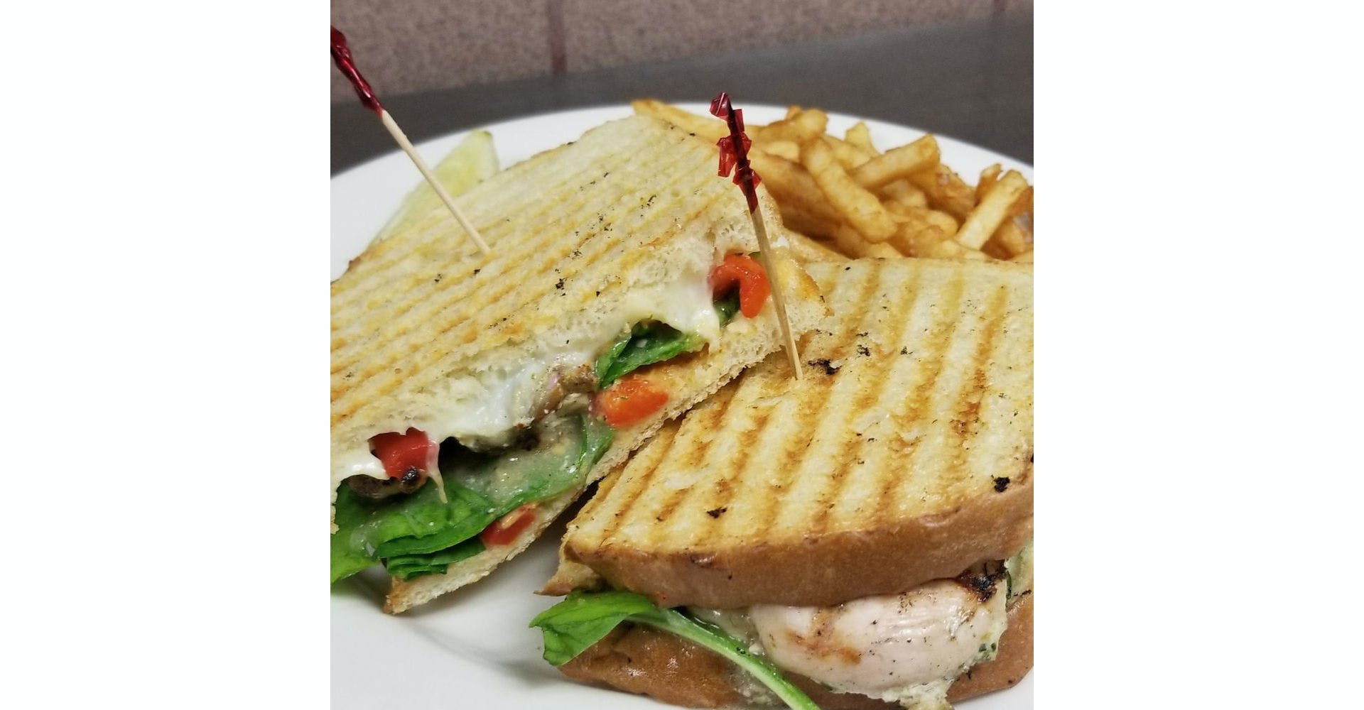 Tuscan Panini from Grazies Italian Grill in Stevens Point, WI