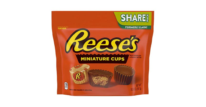 Reese's Peanut Butter Cups Miniatures Candy (10 oz) from EatStreet Convenience - W Mason St in Green Bay, WI
