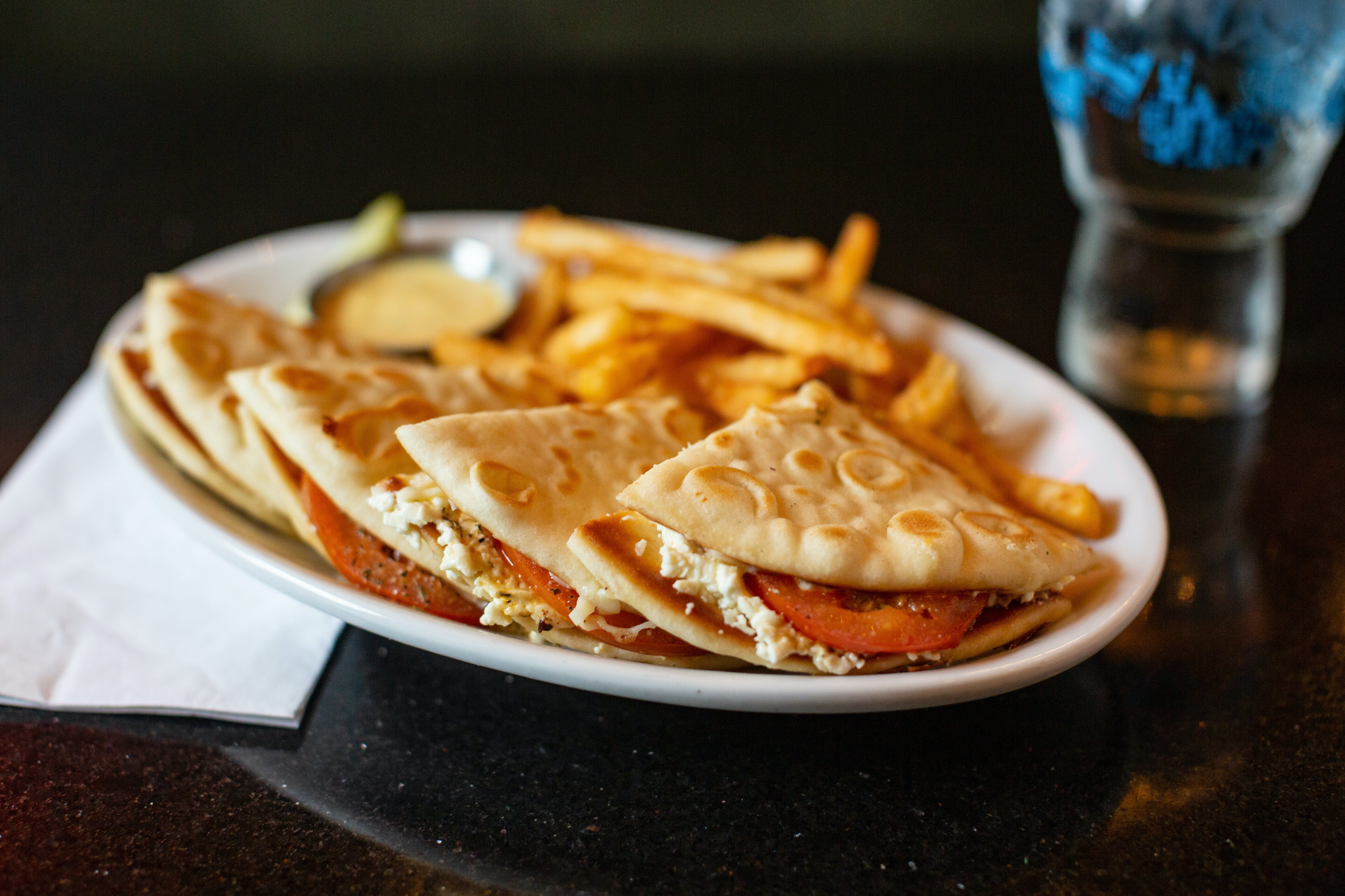Greek Grilled Cheese from The Mad Greek in Lawrence, KS