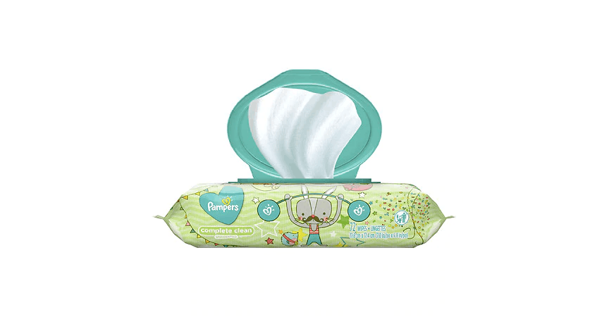 Pampers Baby Wipes Complete Clean Scented (72 ea) from EatStreet Convenience - NW Topeka Blvd in Topeka, KS