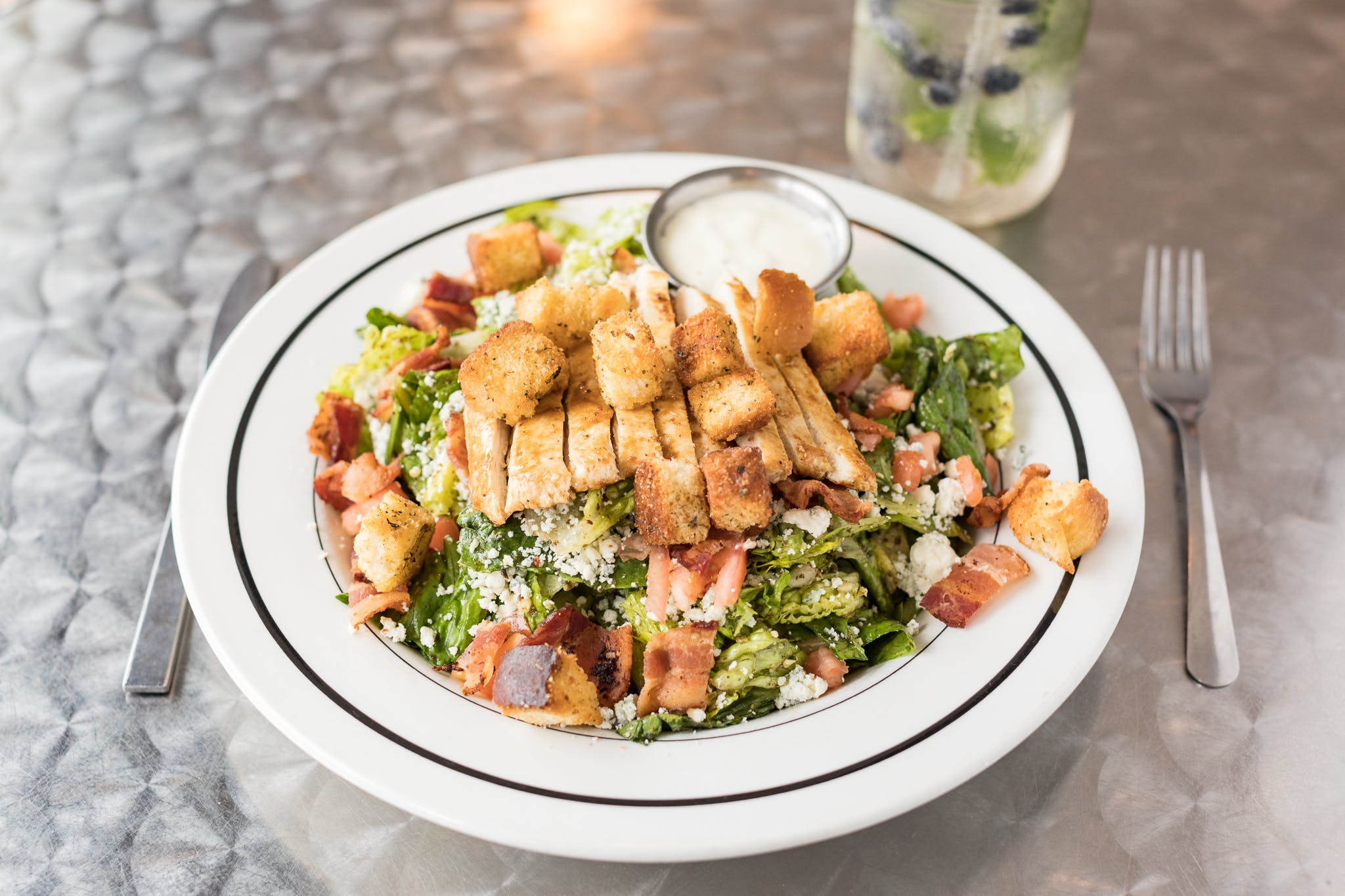 Bacon & Pesto Chicken Salad from The District Pub and Grill in Eau Claire, WI
