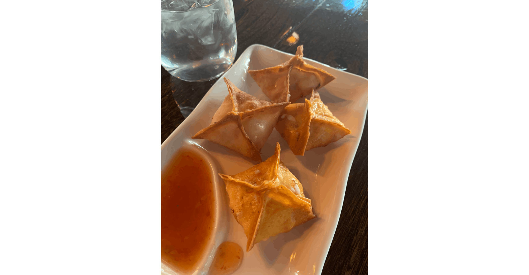 Crab Rangoon from Feast - Artisan Dumpling and Tea House in Madison, WI