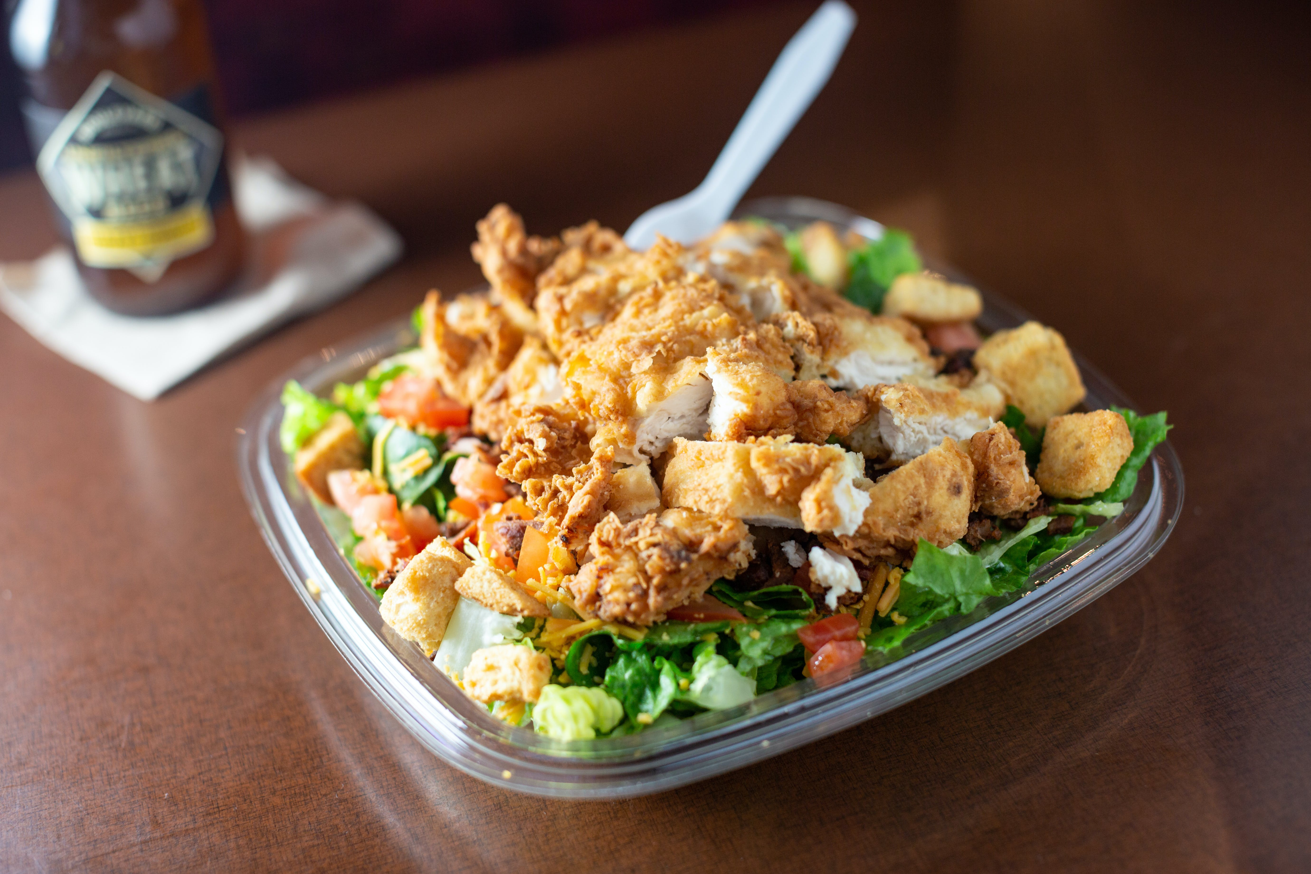 Crispy Chicken Salad from Burgers by Biggs in Lawrence, KS