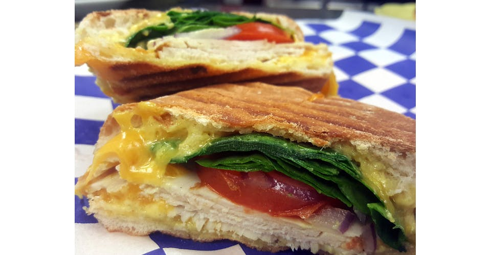 Awesome Turkey Panini from Basics Co-op Cafe in Janesville, WI