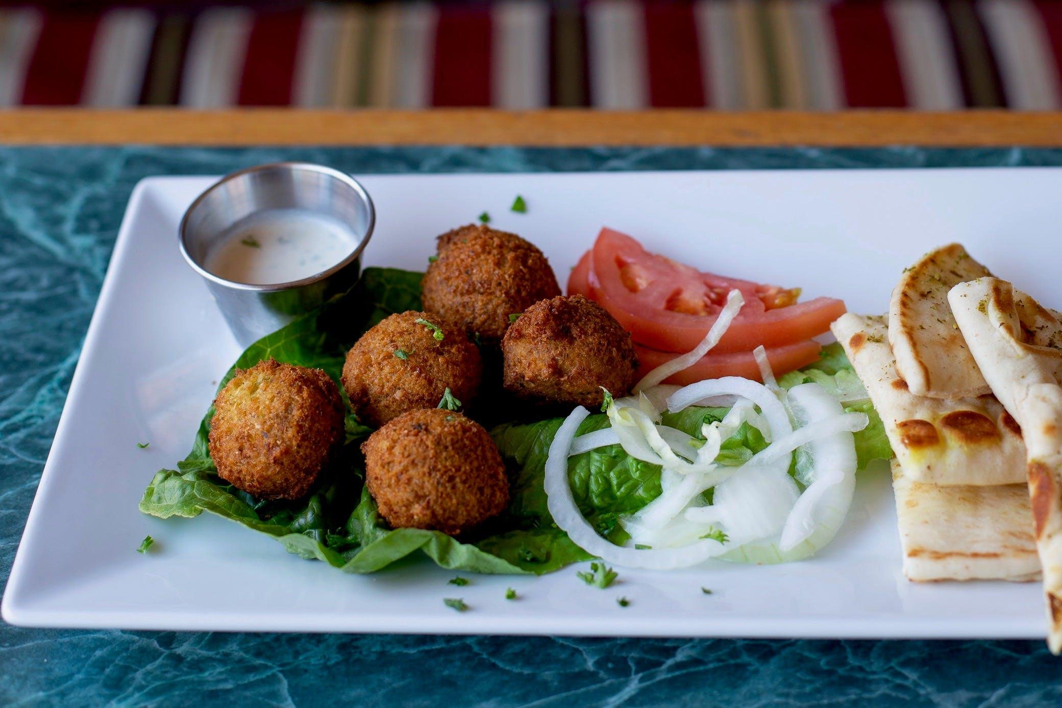 Falafel from Aladdin Cafe in Lawrence, KS