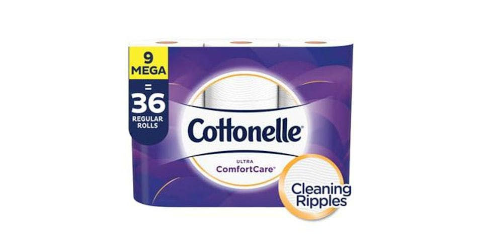 Cottonelle Ultra CleanCare Toilet Paper, Strong Bath Tissue, Septic-Safe (9 ct) from CVS - Main St in Green Bay, WI