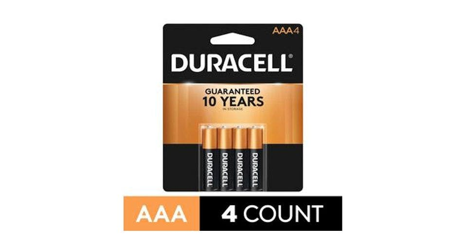 Duracell CopperTop AAA Alkaline Battery (4 ct) from CVS - Main St in Green Bay, WI