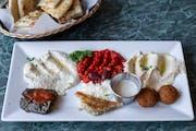 Jasmine's Vegetarian Combo from Aladdin Cafe in Lawrence, KS