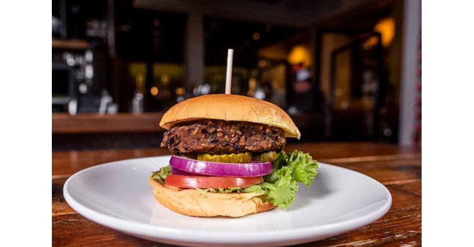 Konza Praire Veggie Burger from Tallgrass Taphouse in Manhattan, KS