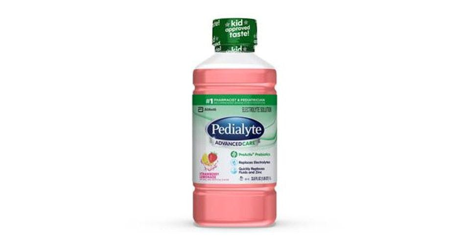 Pedialyte AdvancedCare Electrolyte Solution Strawberry Lemonade Ready-to-Drink (35 oz) from CVS - Main St in Green Bay, WI