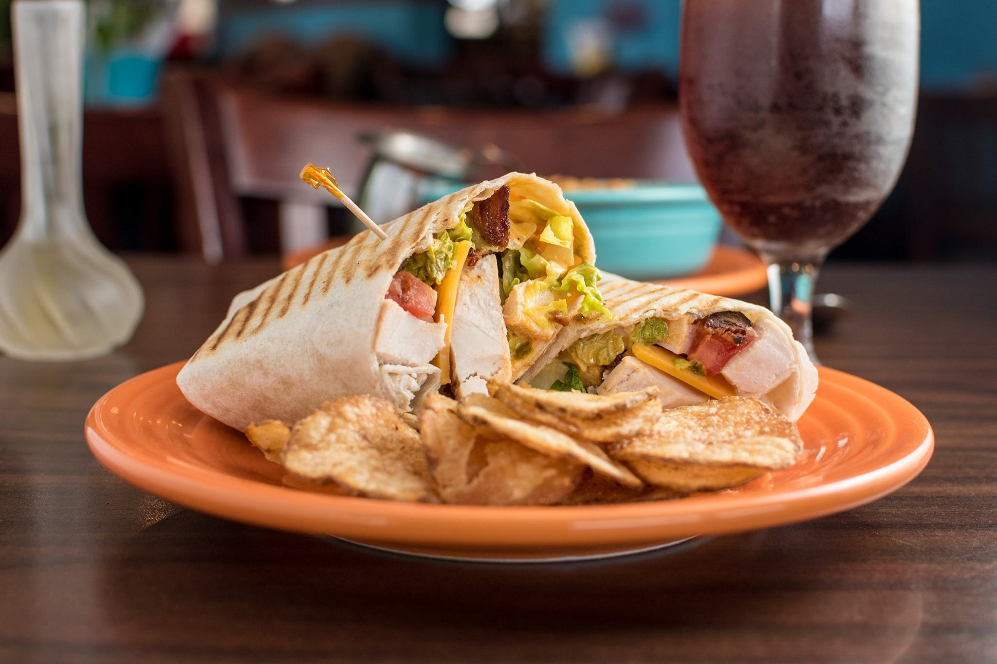 Chicken Bacon Avocado Wrap from Yola's Cafe in Madison, WI