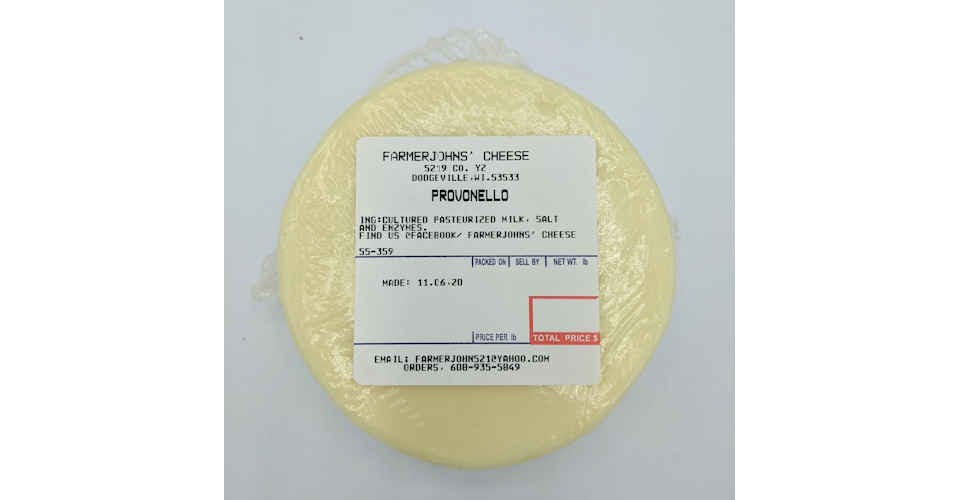 Provonello Cheese from Vitruvian Farms in Madison, WI