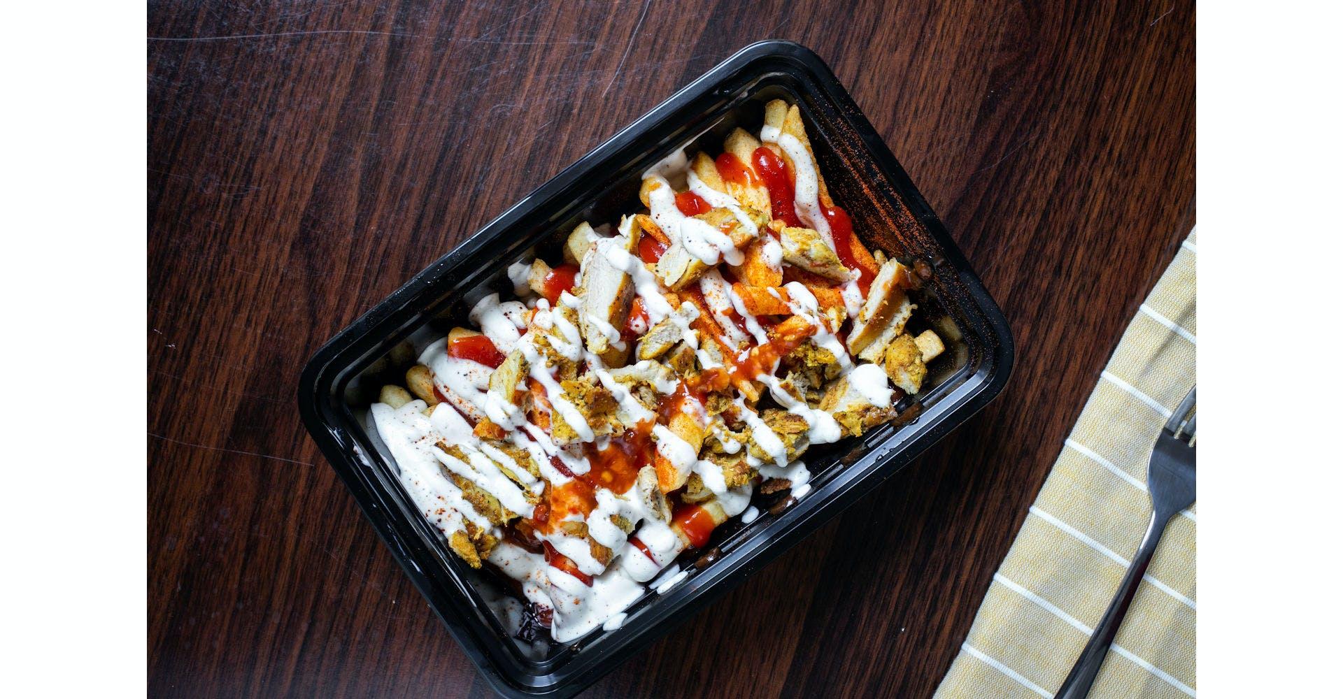 Chicken on Fries from Austin's Habibi in Austin, TX