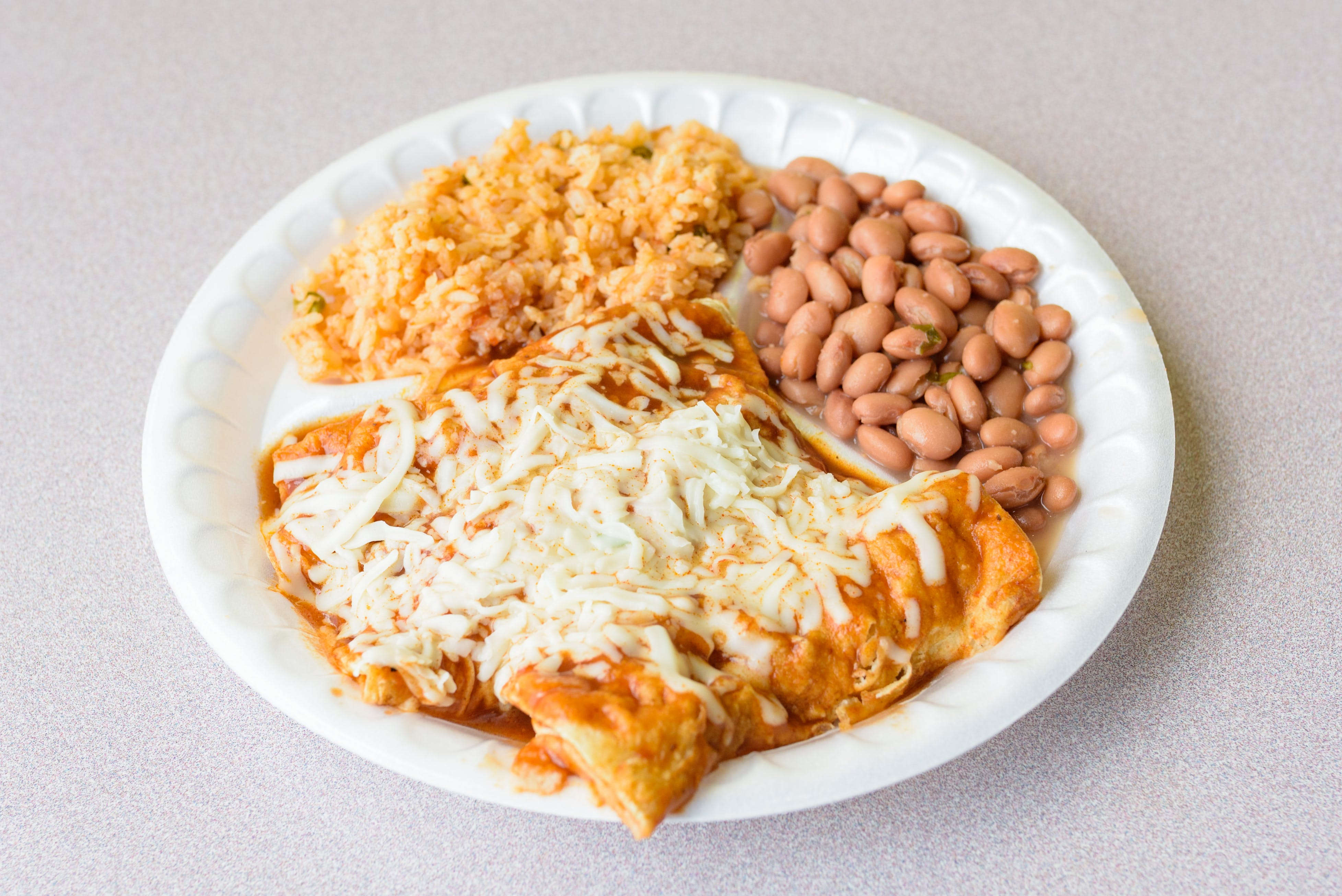 Combo 2: Three Enchiladas & Two Tacos for $13.99 from Taco King - W Liberty Rd. in Ann Arbor, MI