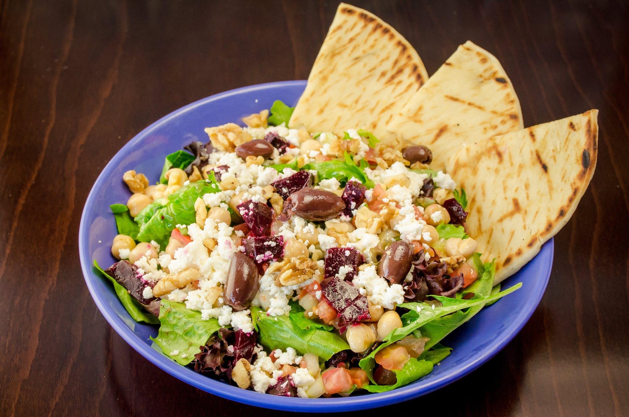 Mediterranean Garbanzo Salad from Freska Mediterranean Grill in Middleton, WI