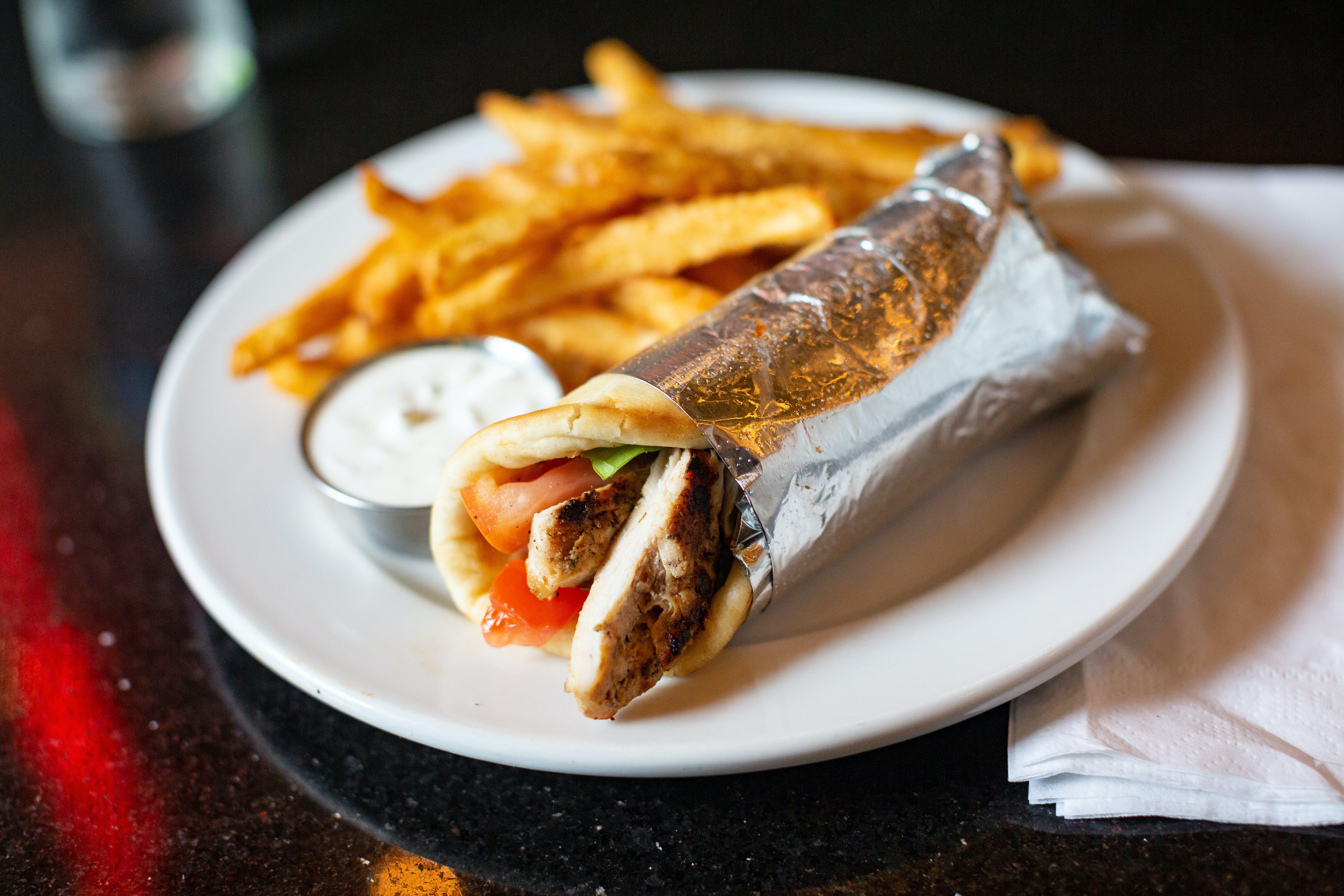 Chicken Skaras Sandwich from The Mad Greek in Lawrence, KS