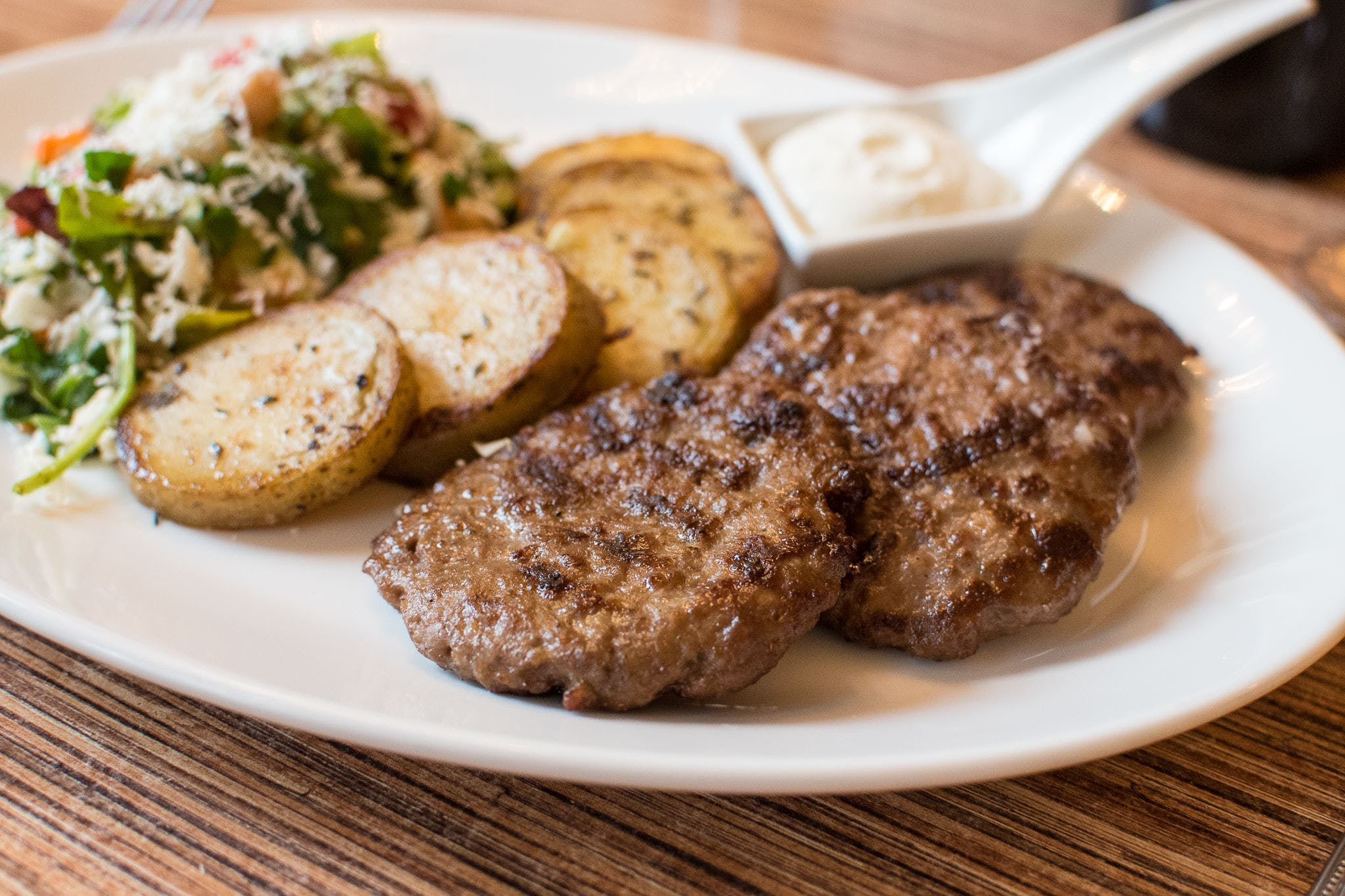 Lumani's Albanian Sausages from Villa Dolce in Middleton, WI