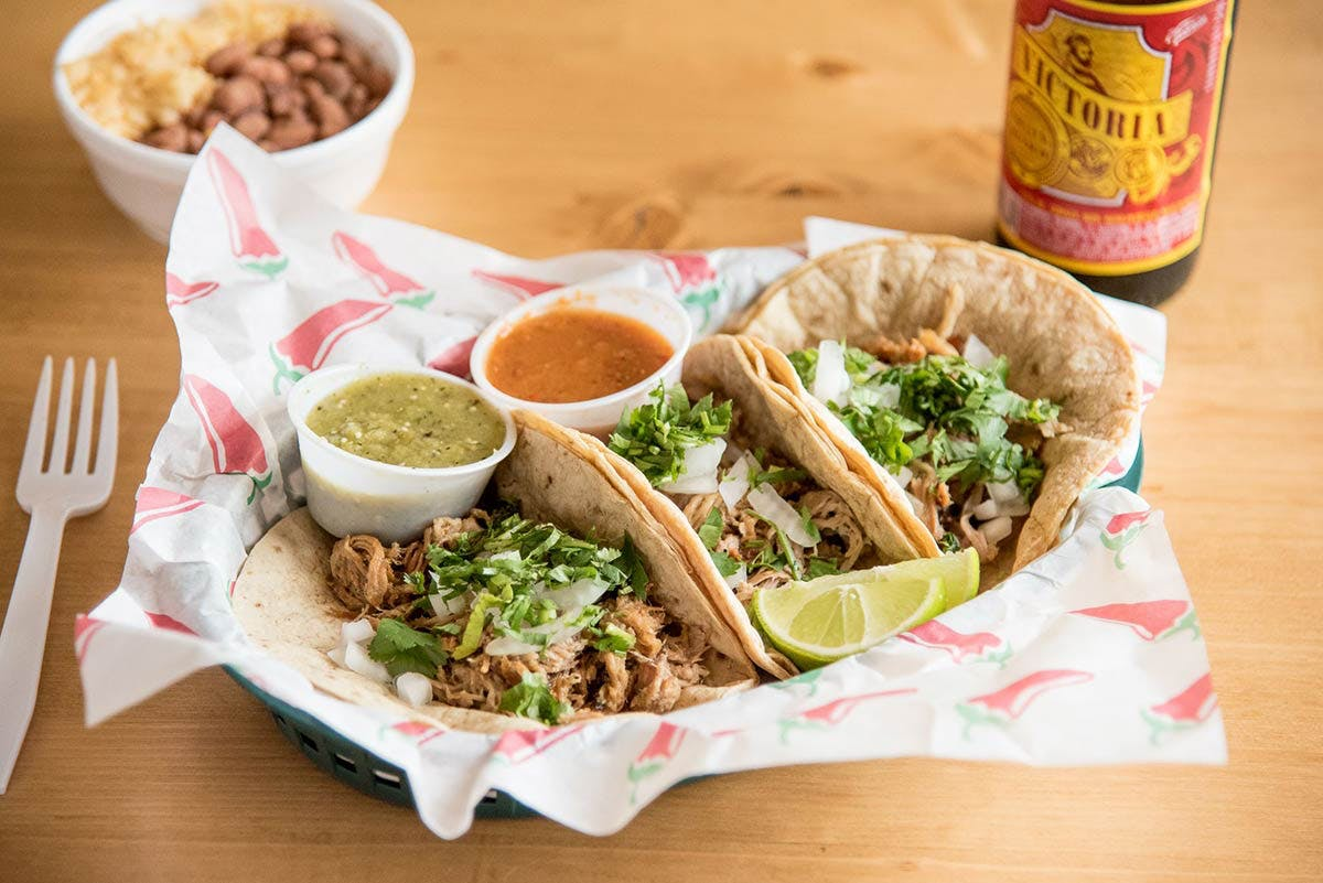 Tacos from Lupe's Taqueria in Middleton, WI