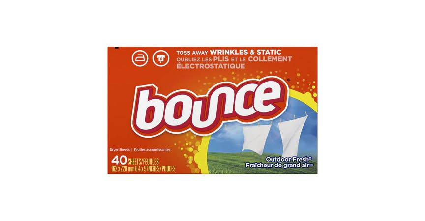 Bounce Fabric Softener Sheets Outdoor Fresh Scent (40 ct) from EatStreet Convenience - Historic Holiday Park North in Topeka, KS