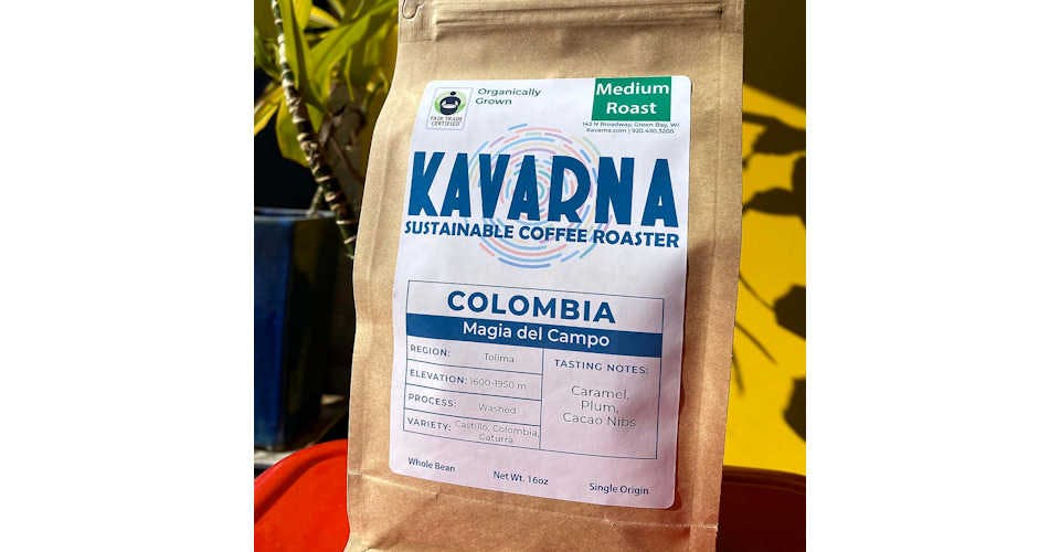 Colombia Magia del Campo from Kavarna Coffee Store in Green Bay, WI